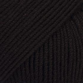 DROPS Baby Merino Svart Uni Colour 21