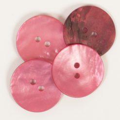 Drops Pärlemorknapp Rund Röd 20mm 610